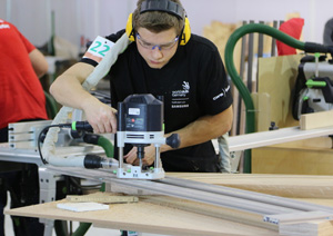 Fabian Ackermann bei den World Skills