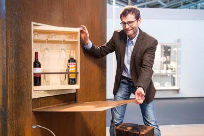 Michael Sindlhauser mit Garten-Bar